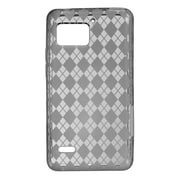 Insten Transparent TPU Rubber Candy Skin Back Case Cover For Motorola Droid Bionic XT875 - Smoke