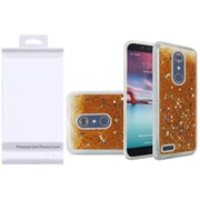 Insten Liquid Quicksand Glitter Fused Hybrid Hard PC/TPU Case with Package For ZTE N9136 - Gold