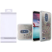 Insten Liquid Quicksand Glitter Fused Flexible Hybrid Case with Package For ZTE Carry / Zmax Pro - Silver