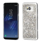 Insten Crystal Hard Snap-in Case Cover With Diamond Compatible Samsung Galaxy S8 Plus S8+ - Silver