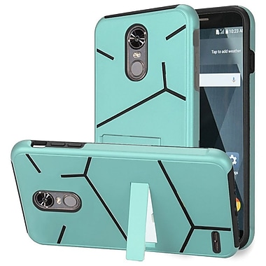 Insten HLX Hybrid Dual Layer Hard PC/TPU Kickstand Case Cover For LG Stylo 3 / Stylo 3 Plus - Teal/Black