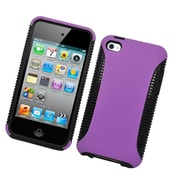 Insten Dual Layer Hybrid PC/TPU Rubber Case Cover For Apple iPod Touch 4th Gen - Purple/Black