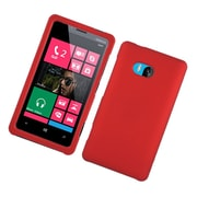Insten Rubberized Hard Snap On Protective Case Cover For Nokia Lumia 810 - Red