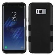 Insten TUFF [Shock Absorbing] Hybrid PC/Silicone Cover Case For Samsung Galaxy S8+ S8 Plus - Rubberized Black