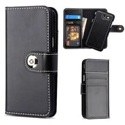 Insten Detachable Magnetic 2-in-1 Wallet Back Leather Flip Case For Galaxy Amp Prime 2/Express Prime 2/J3 (2017) - Black