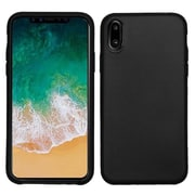Insten TPU Rubber Matte Candy Skin Case Cover for Apple iPhone X - Black