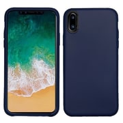 Insten TPU Rubber Matte Candy Skin Case Cover for Apple iPhone X - Blue