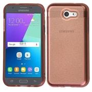 Insten Transparent Sheer Glitter Premium TPU Case For Galaxy Amp Prime 2/Express Prime 2/J3 (2017)/J3 Prime - Rose Gold