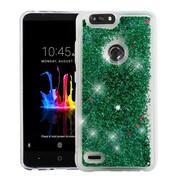 Insten Quicksand Glitter PC/TPU Rubber Case Cover for ZTE Blade Z Max/Sequoia - Green