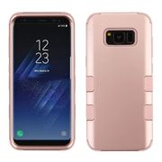 Insten TUFF [Shock Absorbing] Hybrid PC/Silicone Cover Case For Samsung Galaxy S8 - Rose Gold/Rose Gold