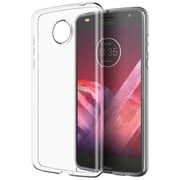 Insten TPU Rubber High Quality Crystal Candy Skin Case Cover for Motorola Moto Z2 Force - Clear