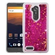 Insten Quicksand Hard Glitter TPU Case For ZTE Max XL N9560 - Hot Pink