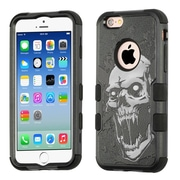 Insten Tuff Vampire Dual Layer Hybrid PC/TPU Rubber Case Cover for Apple iPhone 6/6s - Black