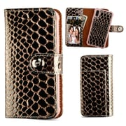 Insten Detachable Magnetic Crocodile Folio Flip Leather Wallet Flap Pouch Case Cover for Apple iPhone X - Rose Gold