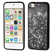 Insten (Black) Krystal Gel Series TPU Candy Skin Case Cover For Apple iPod Touch 5th Gen / 6th Gen - Silver Starry Sky