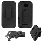 Insten Advanced Armor Dual Layer Hybrid Stand Hard Plastic/Soft TPU Rubber Case Holster For Coolpad Defiant - Black