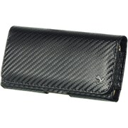 Insten Carbon Fiber Leather Belt Clip Pouch Case Cover For Samsung Galaxy Note - Black