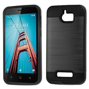 Insten Dual Layer [Shock Absorbing] Hybrid Brushed Hard Plastic/Soft TPU Rubber Case Cover For Coolpad Defiant - Black