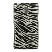 Insten Zebra Hard Snap On Back Protective Case Cover For Sony Xperia TL - Black/Silver