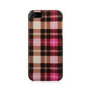 Insten Plaid Hard Snap On Back Protective Case Cover For Apple iPhone 5 / 5S / SE - Hot Pink