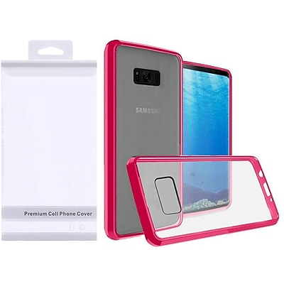 Insten Hard Plastic TPU Cover Case For Samsung Galaxy S8 - Clear/Hot Pink 24227514