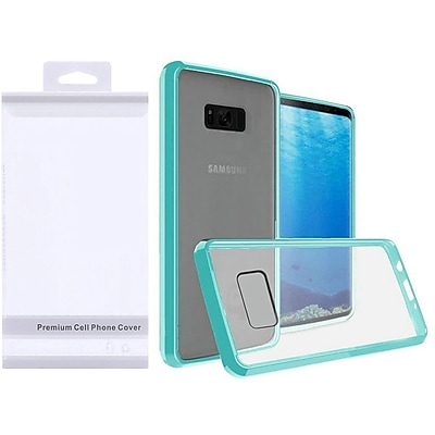 Insten Hard Plastic TPU Cover Case For Samsung Galaxy S8 - Clear/Teal 24225239