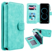 Insten Detachable Magnetic Flip Leather Wallet Pouch Case Cover For Samsung Galaxy S8 Plus S8+ - Teal