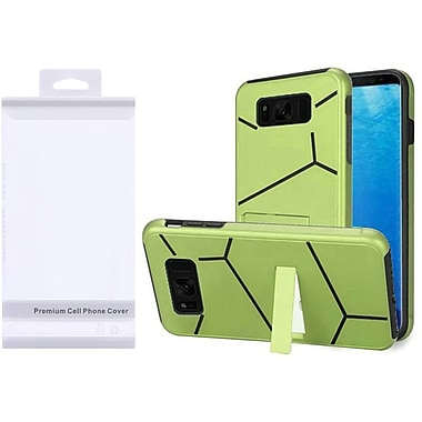 Insten HLX Hybrid Kickstand PC/TPU Case with Package For Samsung Galaxy S8 - Neon Green/Black