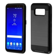 Insten Hard Hybrid Brushed TPU Cover Case For Samsung Galaxy S8 Active - Black