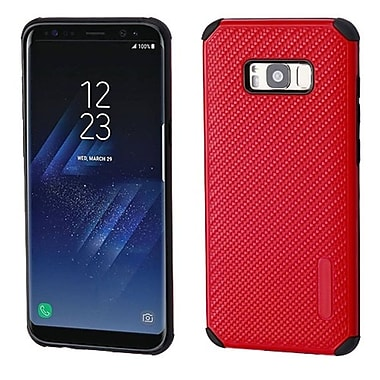 Insten Mat Weave Hybrid Hard PC/TPU Dual Layer Protective Case For Samsung Galaxy S8+ S8 Plus - Red