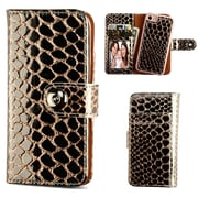 Insten Detachable Magnetic Crocodile Folio Flip Leather Wallet Flap Pouch Case Cover for Apple iPhone 7 - Rose Gold