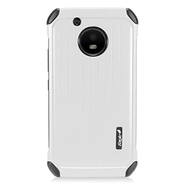 Insten Carry On Hard Dual Layer Plastic Cover Case For Motorola Moto E4 - Silver/Black