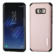 Insten Mat Weave Hybrid Hard PC/TPU Dual Layer Protective Case For Samsung Galaxy S8+ S8 Plus - Rose Gold