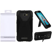 Insten Hybrid T Kickstand Premium PC/Silicone Case with Package For Coolpad Defiant - Black