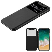 Insten Plastic Hard Silk Texture Case Cover For Apple iPhone X - Black