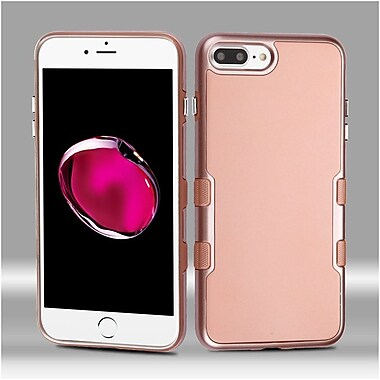 Insten Metallic TUFF Panoview Hybrid PC/TPU Dual Layer Case For Apple iPhone 7 Plus - Rose Gold/Rose Gold