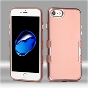Insten Metallic TUFF Panoview Hybrid Hard Protective Case Cover For Apple iPhone 7 / 6s / 6 - Rose Gold