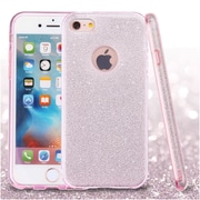 Insten Pink Full Glitter Hybrid Hard PC/TPU Dual Layer Protective Case Cover For Apple iPhone 6 / 6s