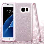 Insten Pink Full Glitter Hybrid Hard PC/TPU Dual Layer Protective Case Cover For Samsung Galaxy S7