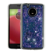 Insten Quicksand Glitter Hearts PC/TPU Rubber Case Cover for Motorola Moto E4 - Purple