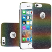 Insten Dual Layer Hybrid Glitter PC/TPU Case Cover For Apple iPhone SE / 5 / 5S - Colorful
