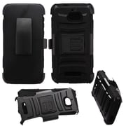 Insten Advanced Armor Dual Layer Hybrid Stand PC/TPU Holster Case For Coolpad Defiant - Black