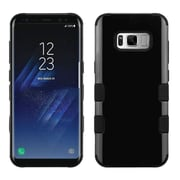 Insten Jet Black TUFF Hybrid Shock Absorbing Hard PC/Silicone Case Cover For Samsung Galaxy S8
