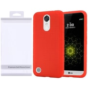 Insten Rubber Silicone Skin Gel Case Cover with Package For LG Harmony/K10 (2017)/K20 Plus/K20 V - Red