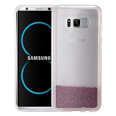 Insten Quicksand Hard Glitter TPU Cover Case For Samsung Galaxy S8 Plus - Hot Pink 24231000