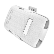 Insten Rubberized Hard Snap-in Holster Stand Case Cover For Samsung Galaxy S3 - White