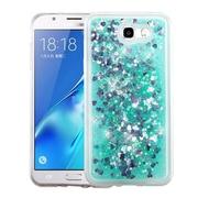 Insten Quicksand Glitter Hybrid Hard PC/TPU Case Cover For Samsung Galaxy J7 (2017) / Sky Pro - Hearts Green