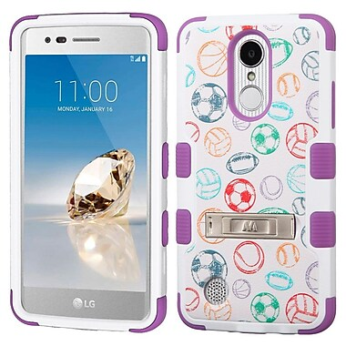 Insten TUFF Hybrid Stand Case For LG Aristo / Fortune / K8 (2017) / LV3 / Phoenix 3 - Battle Of Balls/Purple