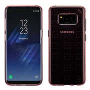 Insten Glassy Transparent SPOTS TPU Rubber Candy Skin Case For Samsung Galaxy S8+ S8 Plus - Rose Gold