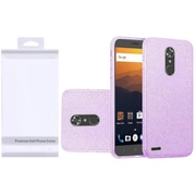 Insten Hybrid Glitter Clear PC/TPU Case Cover with Package For ZTE Max XL N9560 - Purple